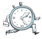 Часы бежать из времени Стоковая Фотография