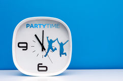Часы белизны концепции времени Стоковое Изображение