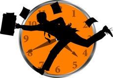 часы бизнесмена Стоковые Изображения