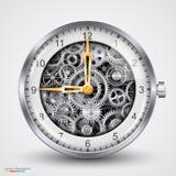 Часы вектора шестерней Стоковая Фотография