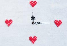 Часы влюбленности Стоковое Изображение