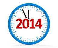 Часы 2014, все Стоковая Фотография