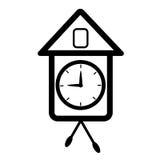 Часы выглядеть как cuckooclock Стоковое фото RF