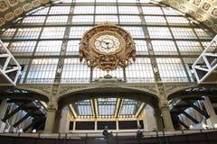Часы в музее изящных искусств d'Orsay paris 01 10 2011 Стоковое Фото