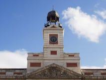 Часы в Puerta del Sol Стоковое Изображение RF
