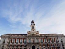 Часы в Puerta del Sol Стоковые Изображения RF