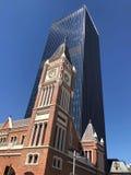 Часы городка города Перта стоковая фотография rf