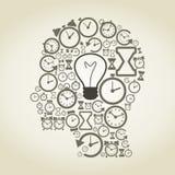 Часы голова Стоковое Изображение RF