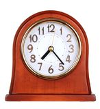 часы деревянные стоковое изображение