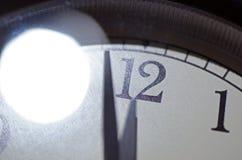 Часы дня страшного суда, 2 минуты пашут полночь Стоковые Фотографии RF