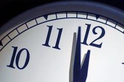 Часы дня страшного суда, 2 минуты пашут полночь Стоковое фото RF