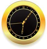 часы золотистые Стоковые Фотографии RF