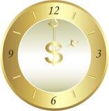 часы золотистые Стоковая Фотография