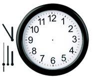 часы изолированные кругом Стоковое фото RF