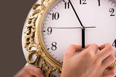 часы изолировали Стоковое Изображение