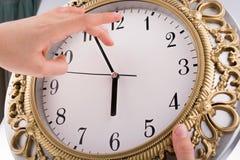 часы изолировали Стоковое Фото