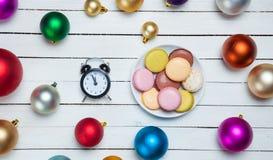 Часы и печенья Стоковая Фотография RF