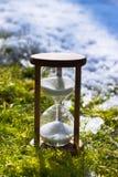Часы как символ изменения климата глобальное потепление Стоковая Фотография