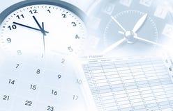 Часы, календарь и плановик года Стоковые Изображения