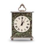 Часы каминной доски показывая один час Стоковые Фотографии RF