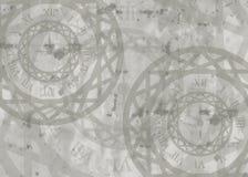 часы карточки предпосылки спелые иллюстрация штока