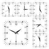 Часы Квадратный форменный комплект часов бесплатная иллюстрация