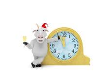 Часы козы 2015 Новых Годов Стоковые Фото
