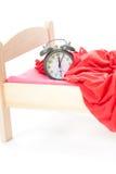 часы кровати меньший старый сбор винограда Стоковые Фото