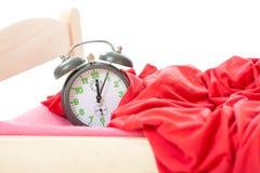 часы кровати меньший старый сбор винограда Стоковое Изображение RF