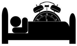часы кровати сигнала тревоги Стоковое Фото