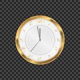 часы 2019 Круглые ретро часы с римскими номерами Не будет соединять минуты до Нового Года 2019 иллюстрация вектора
