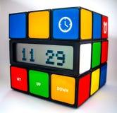 Часы куба Rubiks Стоковые Изображения RF