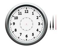 Часы металла с стрелками Стоковые Фото