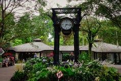 Часы мира в садах Сингапура ботанических Стоковые Изображения