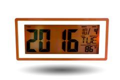 Часы настольного компьютера цифров Стоковое фото RF