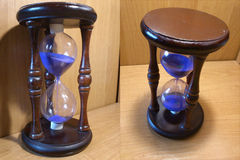 Часы на деревянной предпосылке Стоковое Изображение RF
