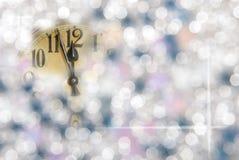 Часы Новый Год Стоковые Фотографии RF