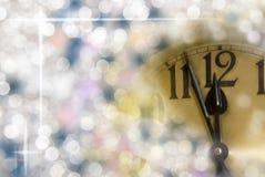 Часы Новый Год Стоковое Изображение