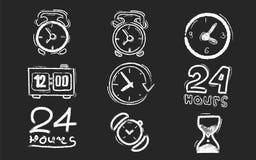 Часы доски мела Стоковые Изображения