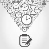 Часы от тетради Стоковая Фотография RF