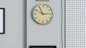 Часы офиса на стене перевод 3d Стоковые Изображения