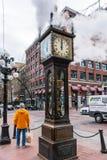 Часы пара Gastown, Ванкувер, Канада стоковые фотографии rf