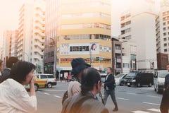 Часы пик в Токио стоковая фотография