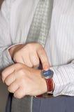 часы показа персоны Стоковое Изображение