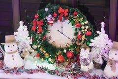 Часы показывают час перед Новым Годом Стоковое Фото