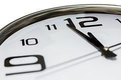 Часы показывая 2 минуты к полночи Стоковое фото RF