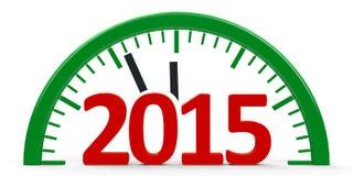 Часы 2015, половинные Стоковая Фотография RF