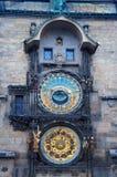 Часы Праги astromomical Стоковое Изображение RF
