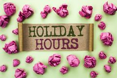 Часы праздника текста сочинительства слова Концепция дела для отверстия сезонных полуночных продаж времени торжества сверхурочног Стоковые Фотографии RF