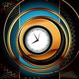 часы предпосылки Стоковая Фотография